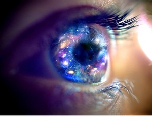 bliss, eye, and galaxy image