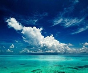 beach, clouds, and blue image