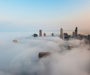 city, clouds, and scenery image