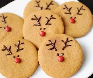 caribou, christmas, and cookie image