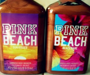 beach, Victoria's Secret, and pink image