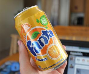 fanta, drink, and orange image