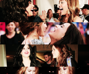demi lovato and miley cyrus image