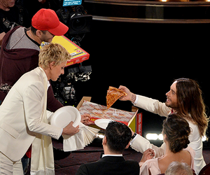 pizza, jared leto, and oscar image