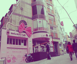 cafe, hello kitty, and seoul image