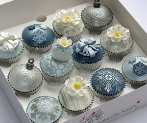 cupcake, blue, and delicious image