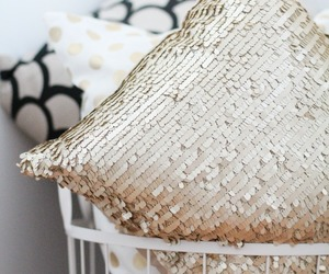 pillow, gold, and decor image
