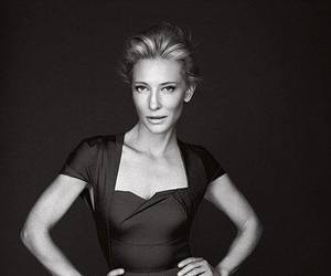 black and white and cate blanchett image