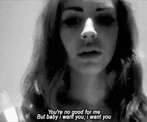 lana del rey, quotes, and black and white image