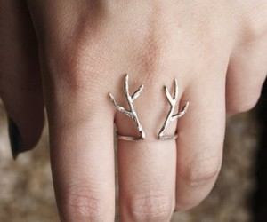 girl, jewelry, and rings for women image
