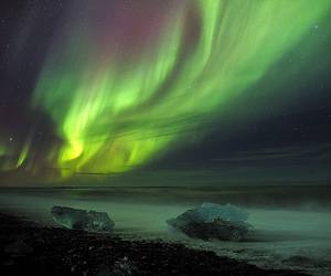 aurora, green, and iceland image