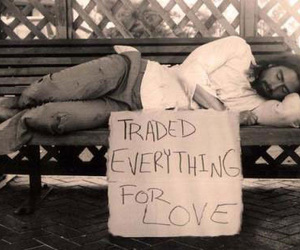 love, trade, and homeless image
