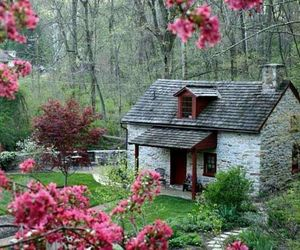 house and spring image