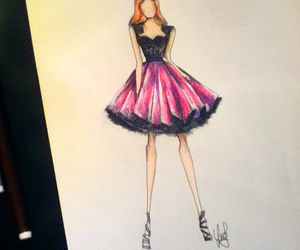 draw, drawing, and dress image