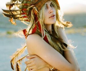 blonde, girl, and indian image
