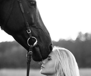 horse, woman, and animal image