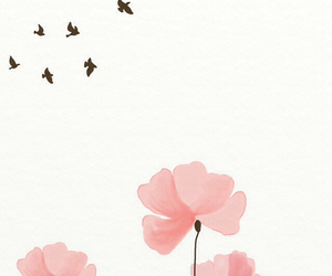 birds and flowers image