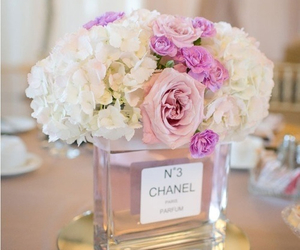 chanel, flowers, and roses image