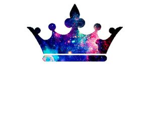 crown, Queen, and galaxy image