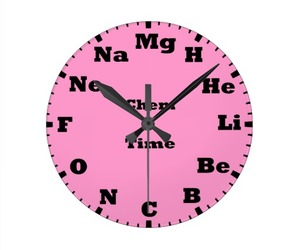 chemistry is pink clock image