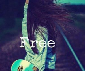 free, girl, and skate image