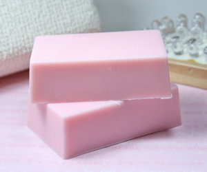 pink, soap, and handmade soap image