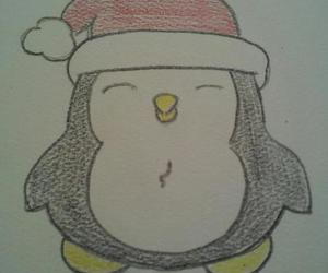 color, merry christmas, and penguin image