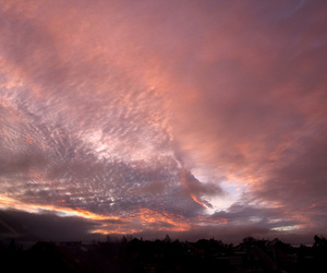clouds, pink, and places image