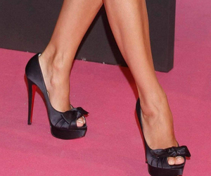 black heels, black shoes, and shoes image
