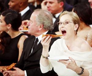 pizza, meryl streep, and oscar image