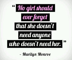 quote, Marilyn Monroe, and true image