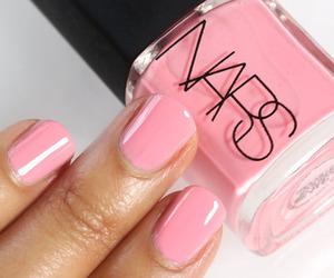 girly, pink, and nails image