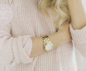 blonde, pink, and watch image