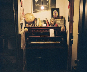 vintage, piano, and grunge image