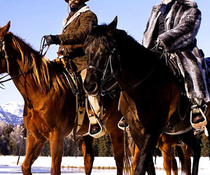 django unchained, horse, and quentin tarantino image
