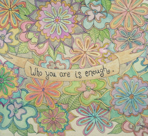 quote, flowers, and enough image