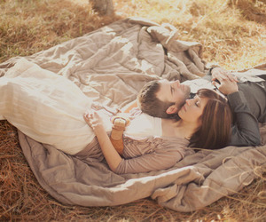 loving, picnic, and talking image