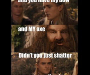 axe, Legolas, and lord of the rings image