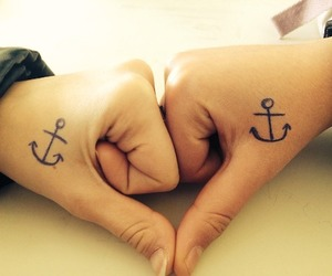 anchor, tatoo, and friends image