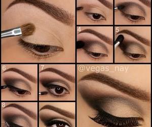 black, eye, and eyebrow image
