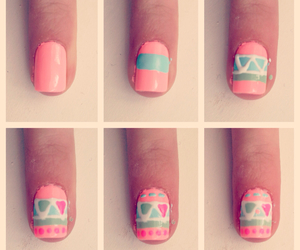 aztec, nails, and fashion image