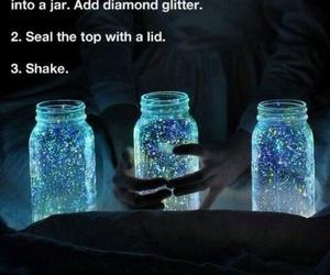 diy, jar, and glitter image