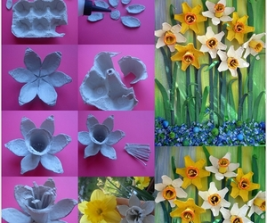 diy, flowers, and egg image
