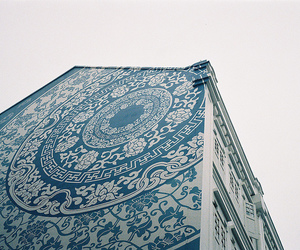 building, pattern, and vintage image