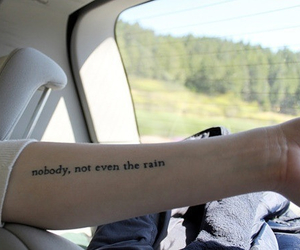 tattoo, rain, and quote image