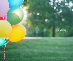 balloons, memory, and colorful image