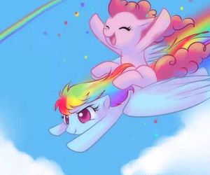 my little pony, party, and rainbow image