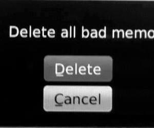 memories, delete, and bad image