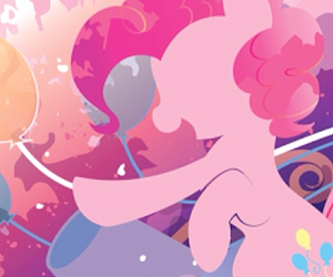 balloons, musical, and my little pony image
