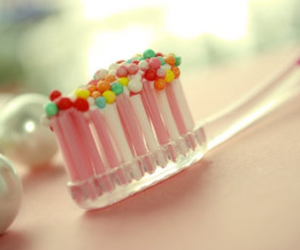 pink, candy, and toothbrush image